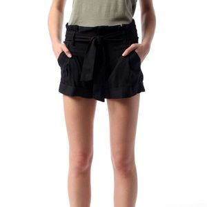 Sparkle and Fade High Waisted Belted Pleated Short